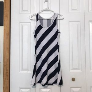 Dresses & Skirts - Navy Stripped Boutique Dress